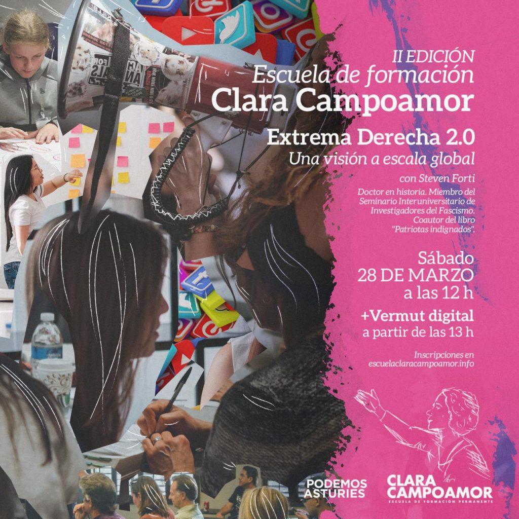 II Jornada de formación de la escuela Clara Campoamor de Podemos Asturies. Extrema Derecha 2.0