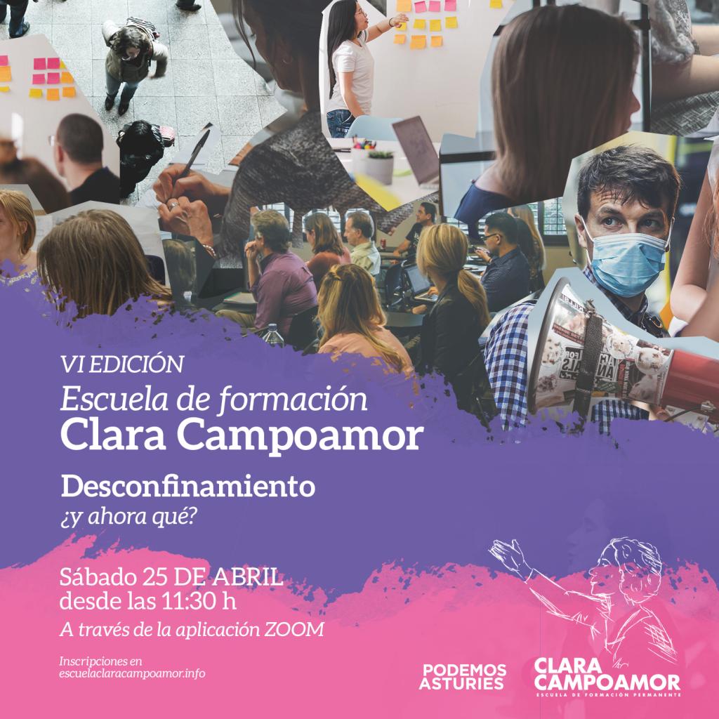 VI Jornada de formación de la escuela Clara Campoamor de Podemos Asturies. Desconfinamiento ¿Y ahora qué?