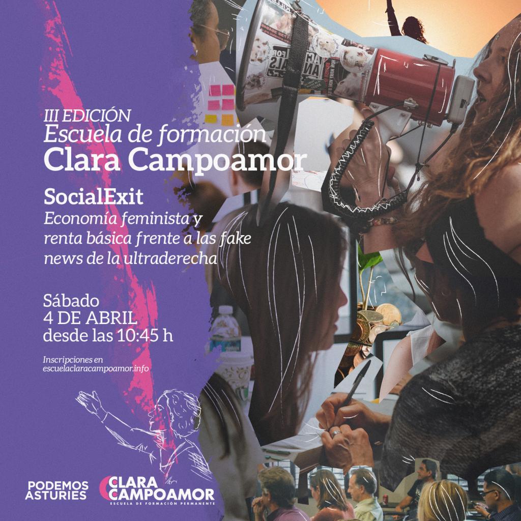 III Jornada de formación de la escuela Clara Campoamor de Podemos Asturies. Social Exit