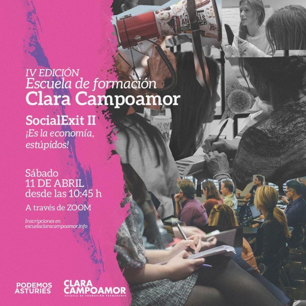 IV Jornada de formación de la escuela Clara Campoamor de Podemos Asturies. Social Exit II