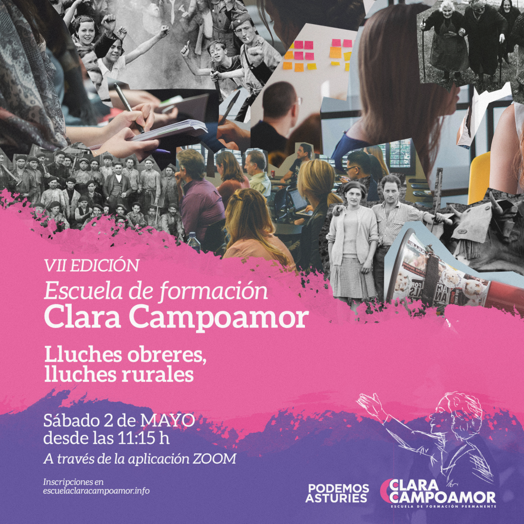 VII Jornada de formación de la escuela Clara Campoamor de Podemos Asturies. Lluches obreres, lluches rurales