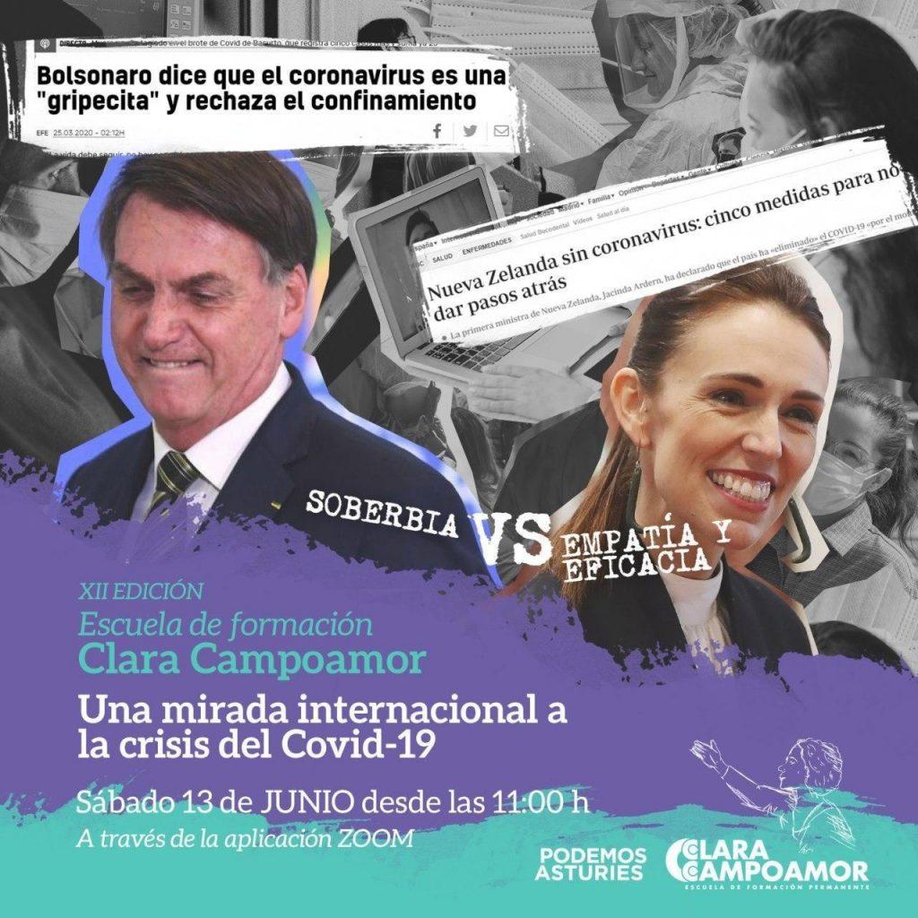 XII Edicion Escuela Clara Campoamor - Una mirada internacional a la crisis del Covid19. Sabado 13 de junio. Zoom