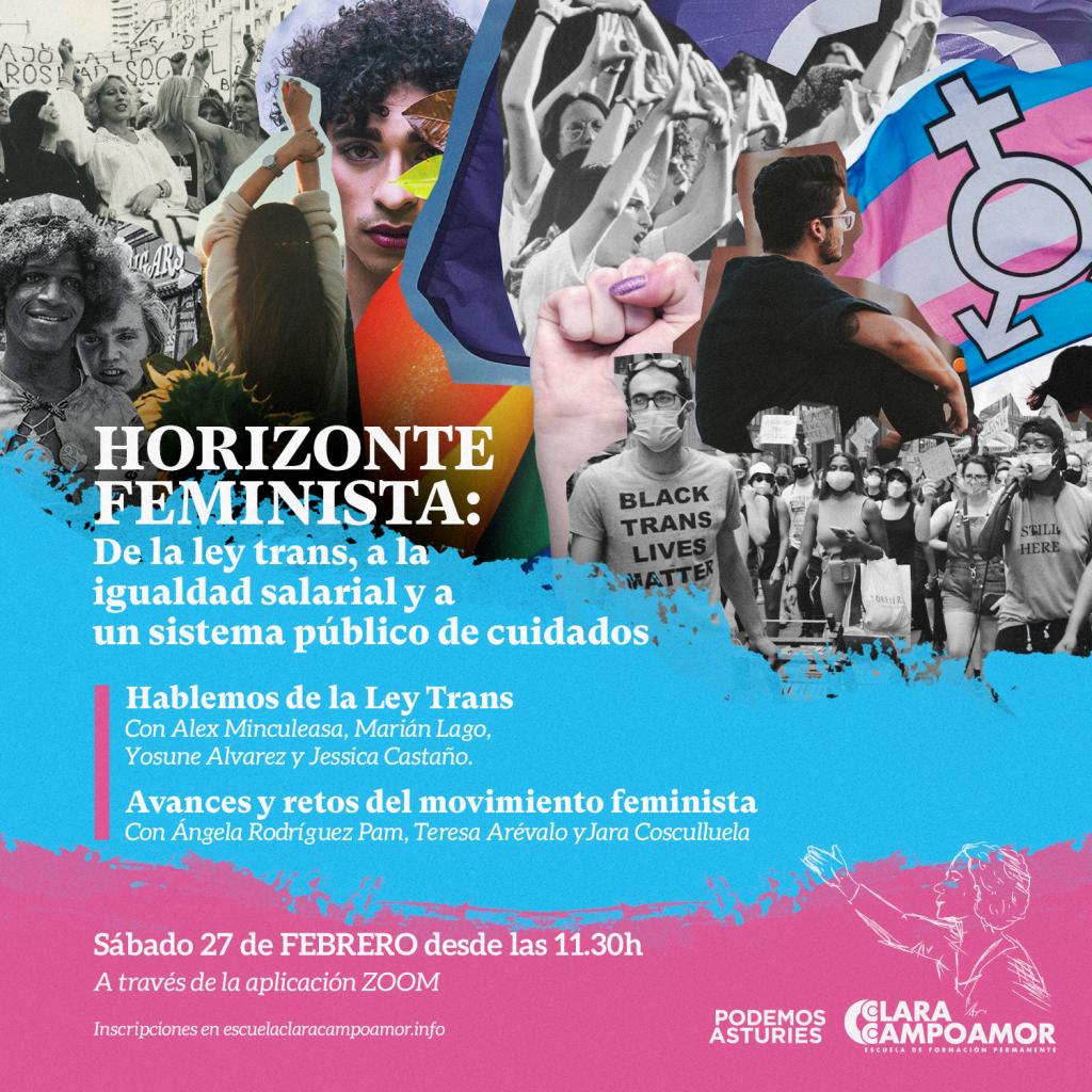 Horizonte feminista: de la Ley trans, a la igualdad salarial y a un sistema público de cuidados. Sábado 27f, zoom 11:30h